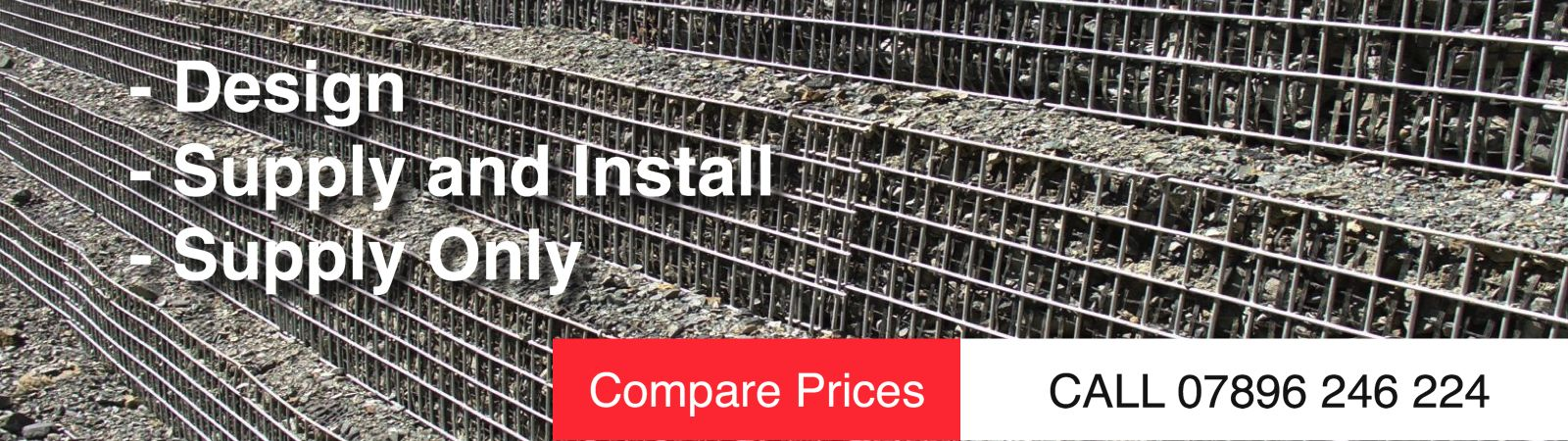 Inclined Gabion Wall